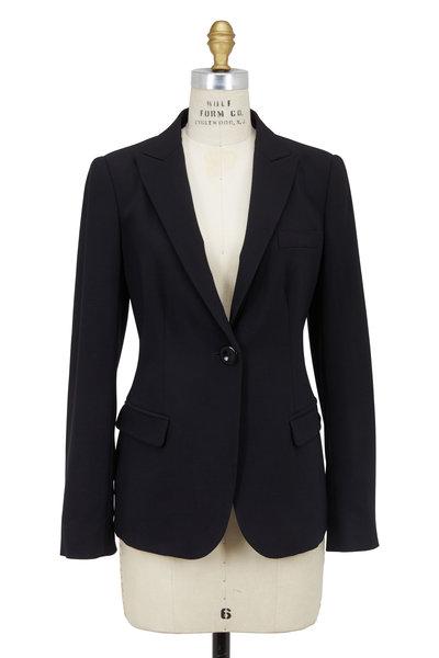Emporio Armani - Black Wool One Button Blazer