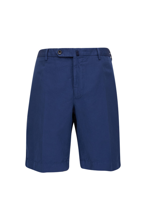 Incotex Navy Chinolno Regular Fit Shorts