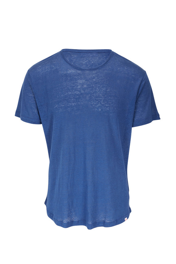 Orlebar Brown Blue Slate Tailored Fit Crew Neck T-Shirt