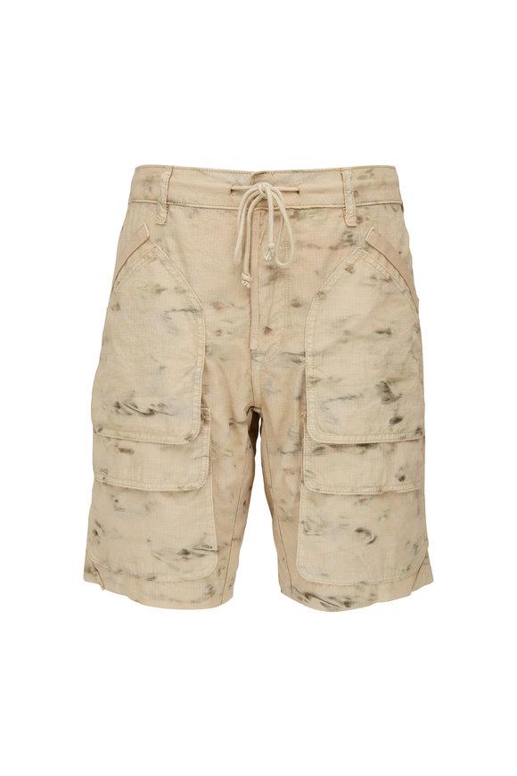 Hudson Clothing Tracker Sea Camo Drawstring Cargo Shorts