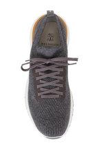 Brunello Cucinelli - Gray Cotton Knit Trainer