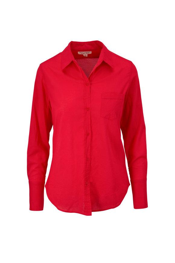 Nili Lotan NL Sunfaded Red Button Down Shirt