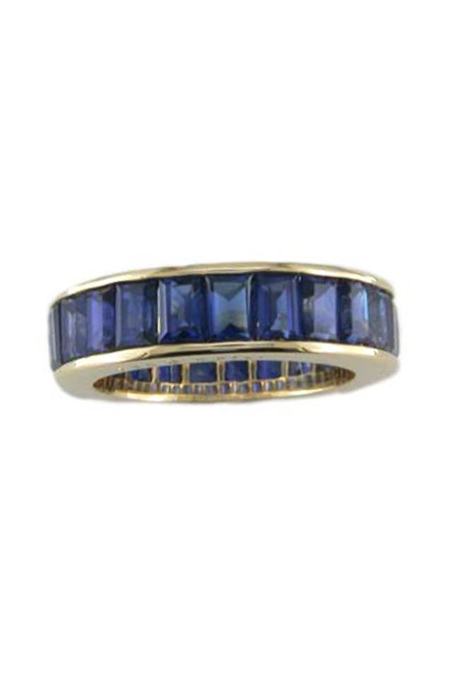 Baguette-Cut Sapphire White Gold Ring