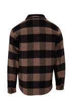 Vince - Tan & Bark Buffalo Plaid Overshirt