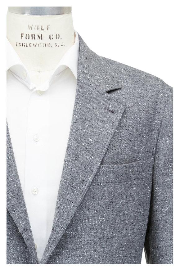 Brunello Cucinelli Gray Wool & Cashmere Sportcoat