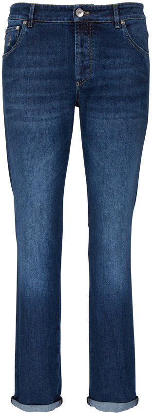 Brunello Cucinelli Medium Wash Skinny Fit Jean