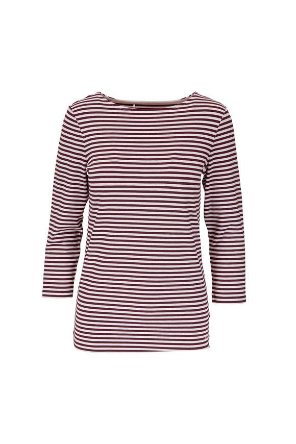 Bogner Louna Cabernet Feeder Stripe T-Shirt