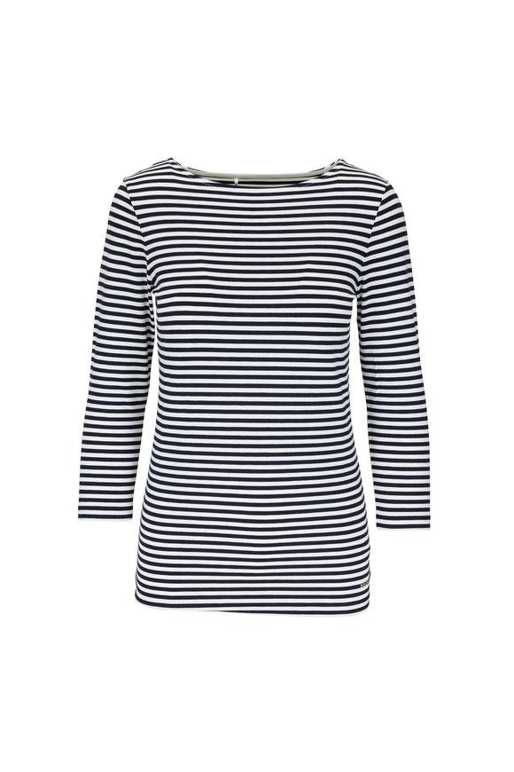Bogner Louna Black & White Feeder Stripe T-Shirt