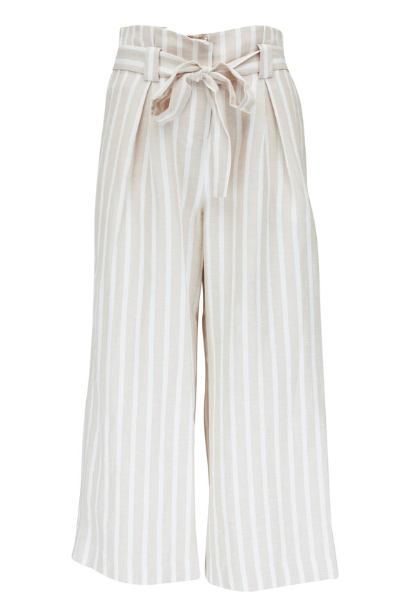 L'Agence Samira Bisque Stripe Wide Leg Pant