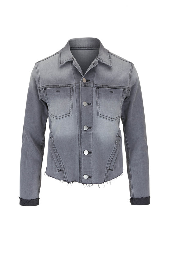 L'Agence Janelle Misty Gray Slim Fit Jean Jacket