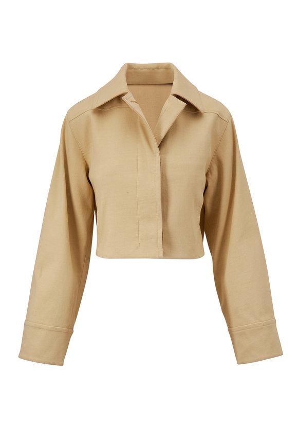Vince Maiz Casual Cotton Cropped Jacket