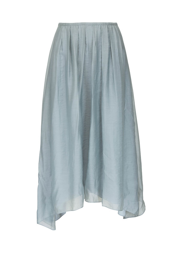 Vince Sea Stone Gathered Pull-On Skirt