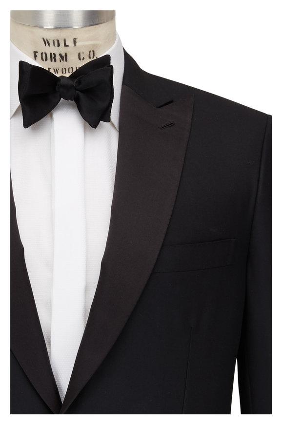 Brioni Policleto Black Super 160's Wool Tuxedo