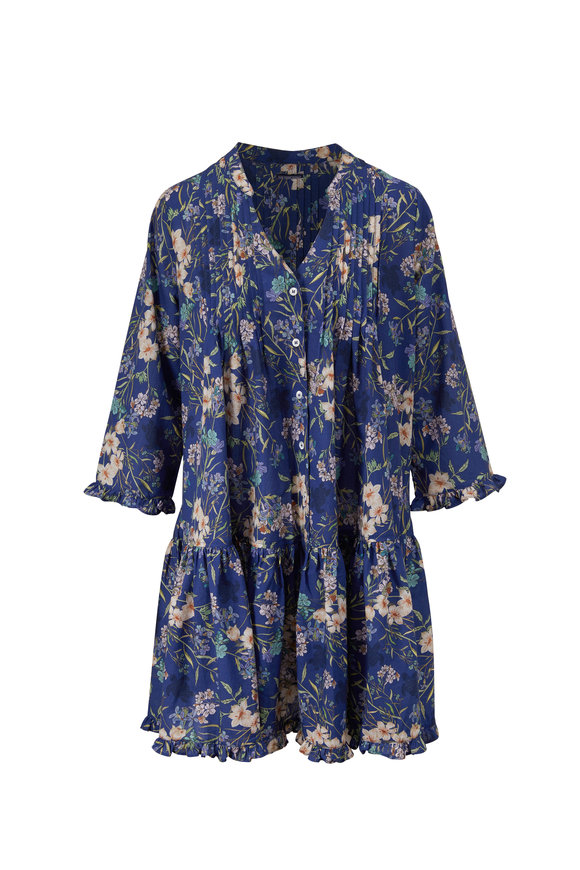 Vilebrequin Flairy Multi-Color Linen Botanical Cover-Up Dress
