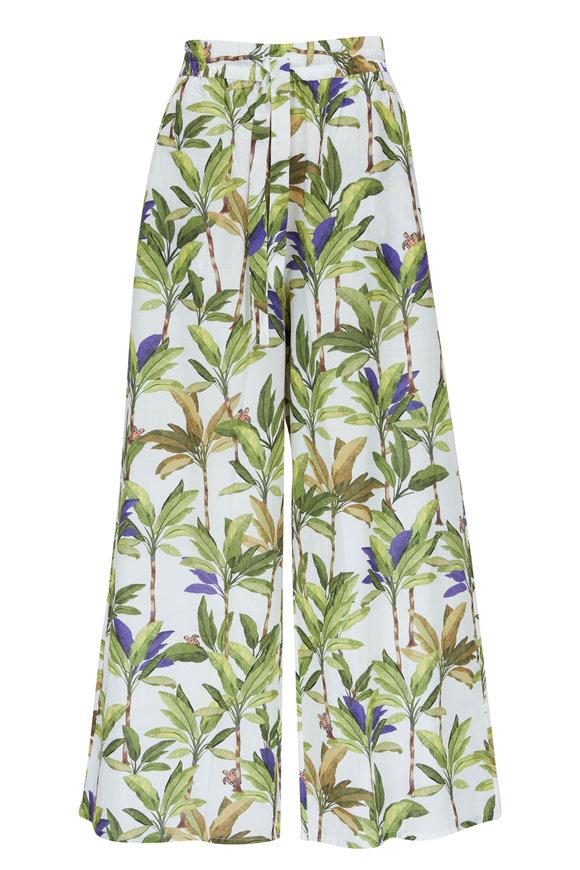 Vilebrequin Lopa White Palm Print Pant
