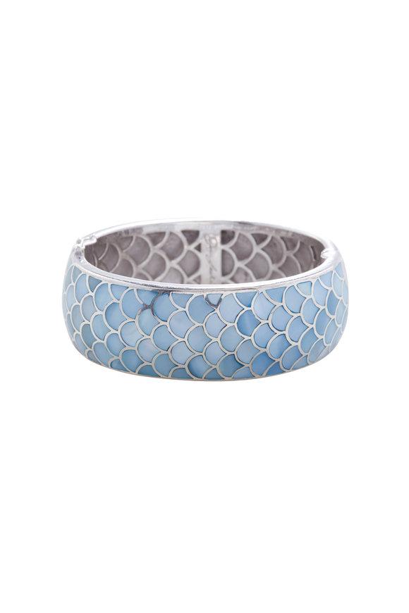 Jan Leslie Turquoise Narrow Bracelet