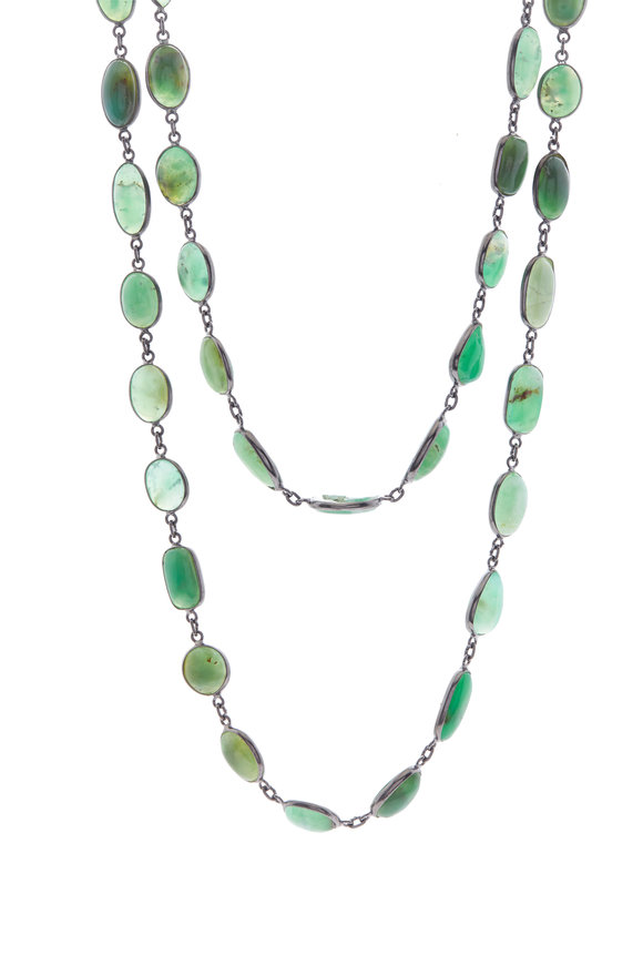 Loriann Sterling Silver Turquoise Chain Necklace