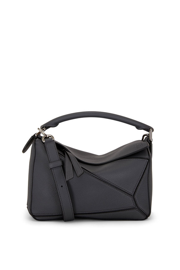 Loewe Puzzle Anthracite Leather Small Top Handle Bag