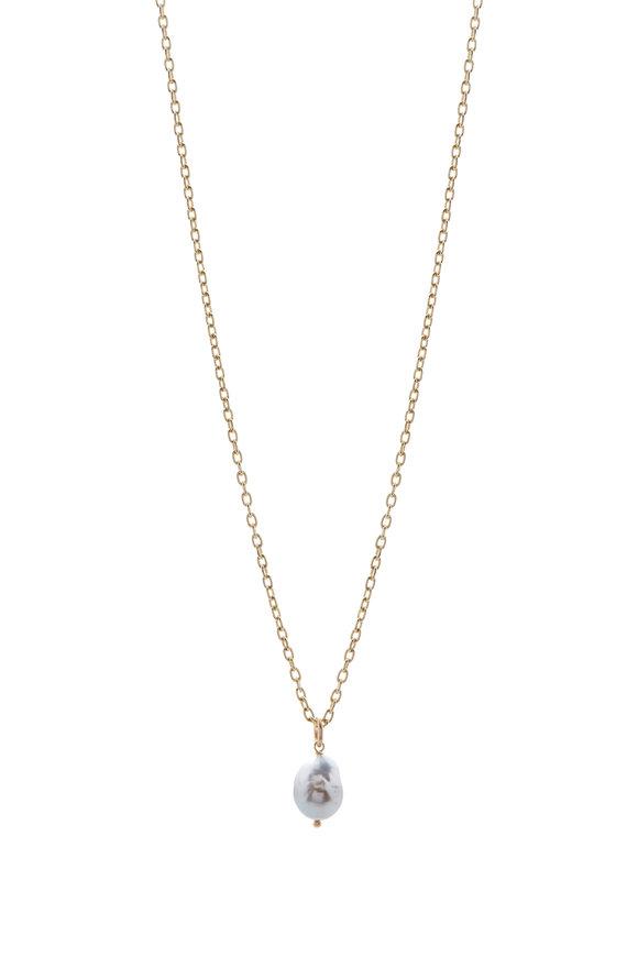 Caroline Ellen Yellow Gold South Sea Pearl Necklace