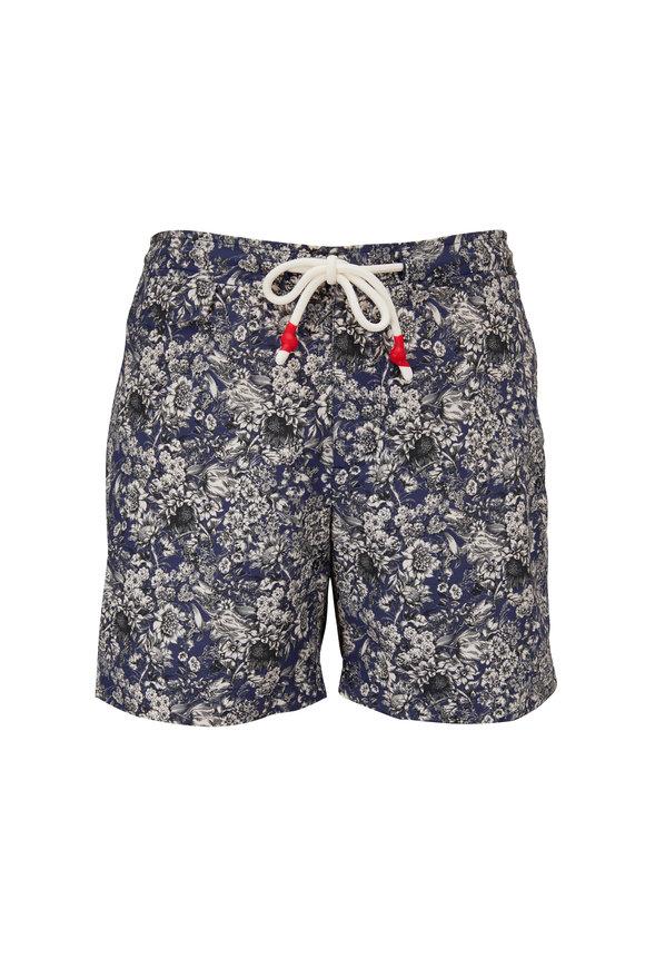 Orlebar Brown Standard Full Bloom Blue Swim Trunks