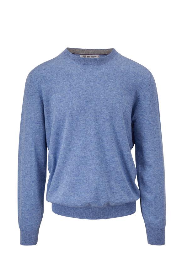 Brunello Cucinelli Light Blue Cashmere Sweater