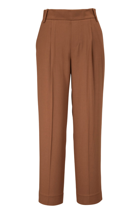Vince Khaki Pull-On Cropped Pant
