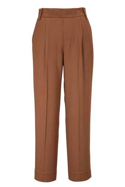 Vince - Khaki Pull-On Cropped Pant