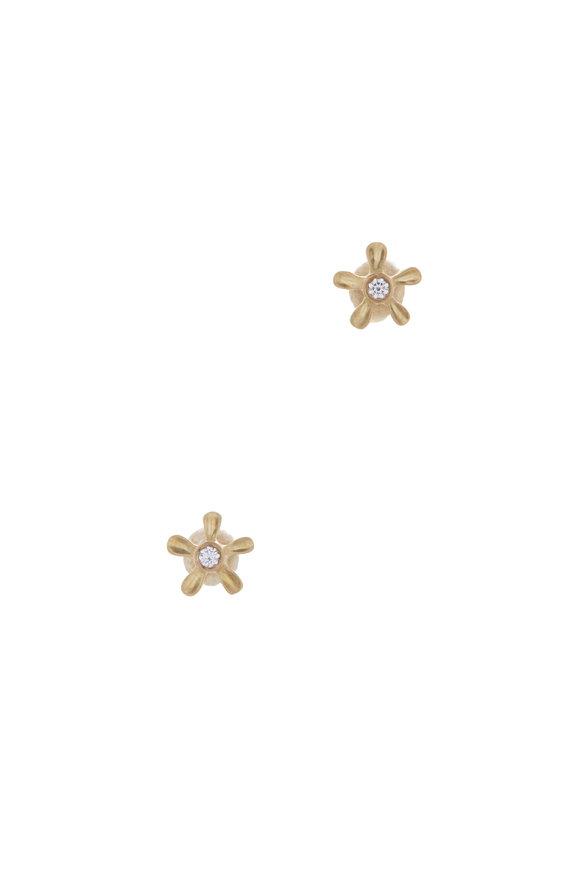 Caroline Ellen Mini Diamond Flower Studs