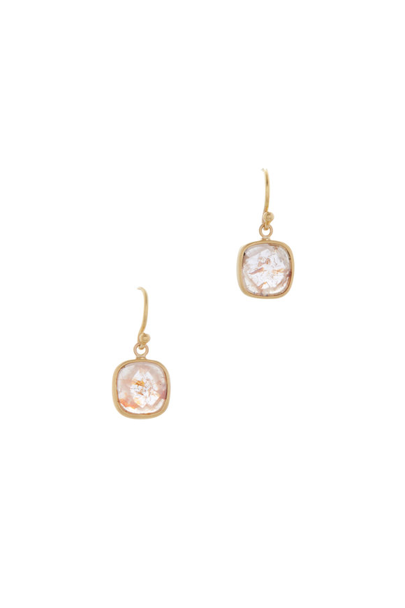 Caroline Ellen Orange Rose Cut Diamond Earrings