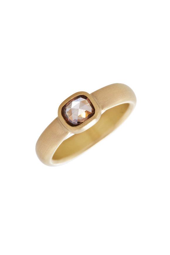 Caroline Ellen Rose Cut Cognac Diamond Ring