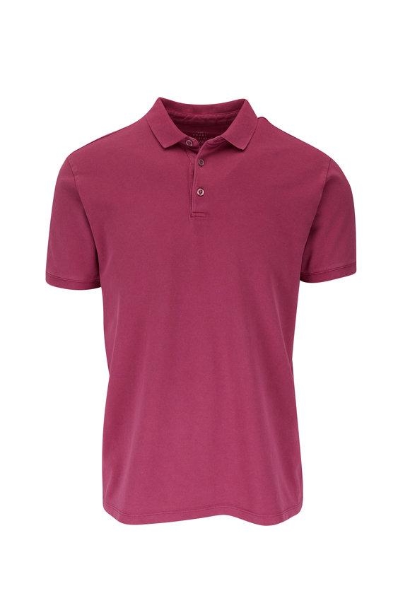 Fradi Plum Piqué Short Sleeve Polo