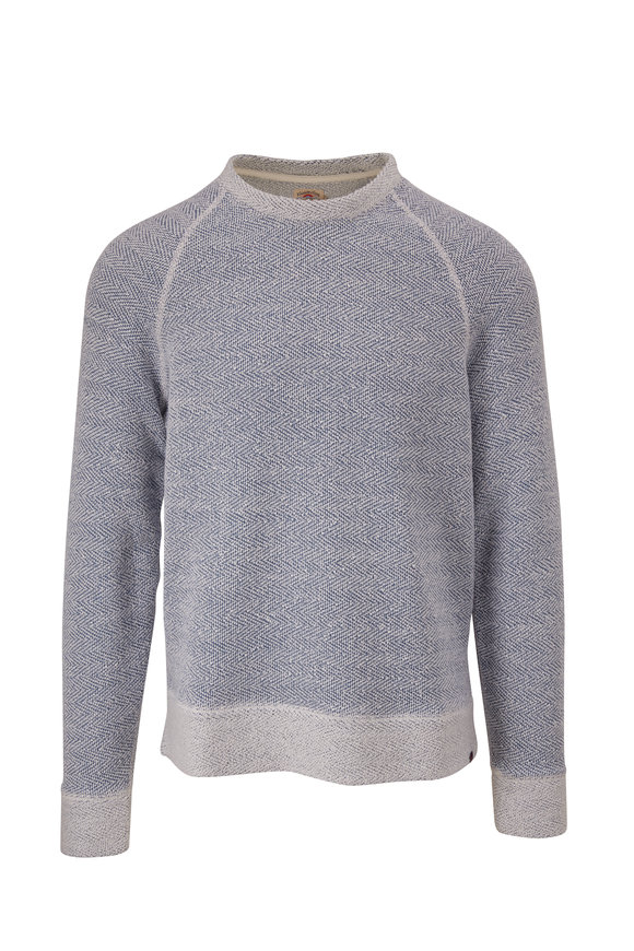 Faherty Brand Whitewater Blue Textured Pullover