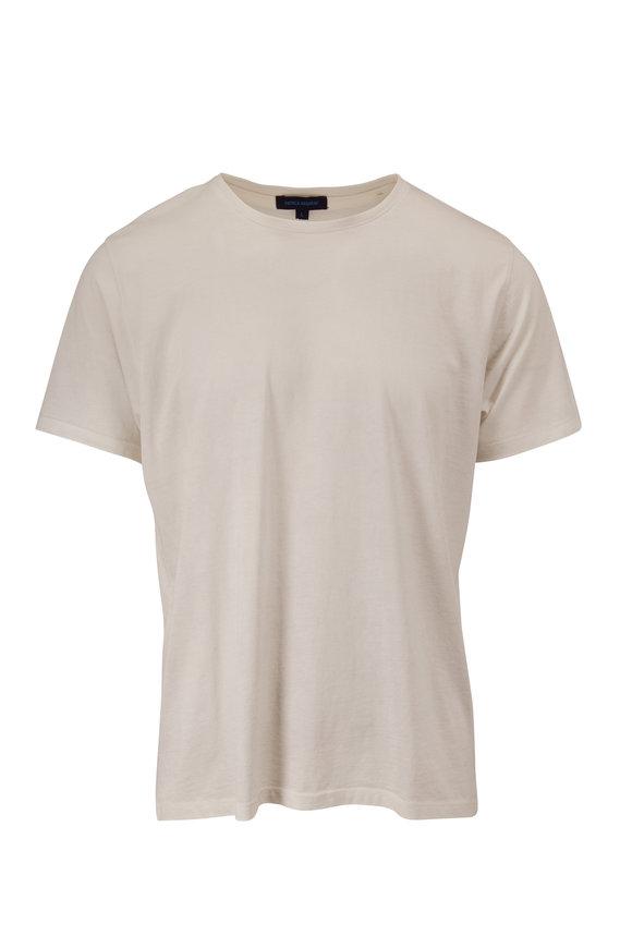 PYA Patrick Assaraf Snowflake Pima Cotton Short Sleeve T-Shirt
