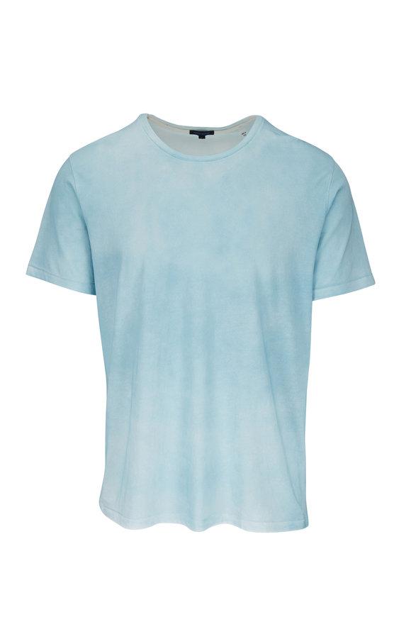 PYA Patrick Assaraf Mint Pima Cotton Spray Wash Short Sleeve T-Shirt