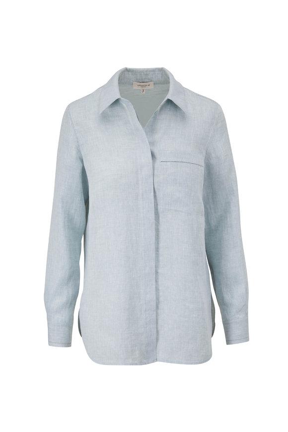 Lafayette 148 New York Ruxton Peppermint Button Down Shirt
