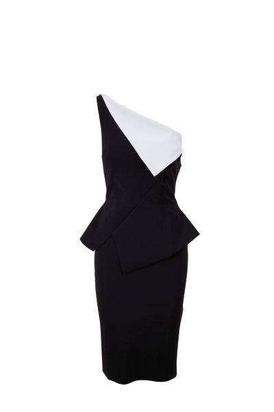 Chiara Boni La Petite Robe - Black & White One-Shoulder Dress