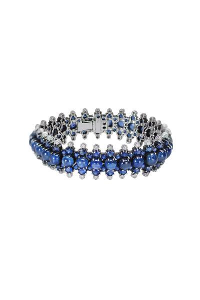 Nam Cho - White Gold Blue Sapphire Diamond Bracelet
