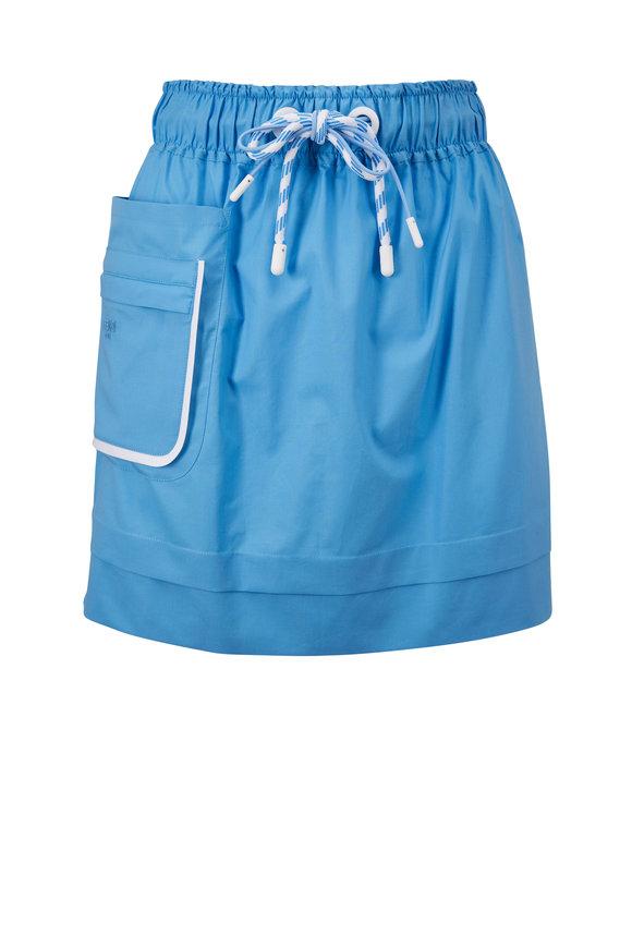 Fendi Blue Eco Popeline Skirt