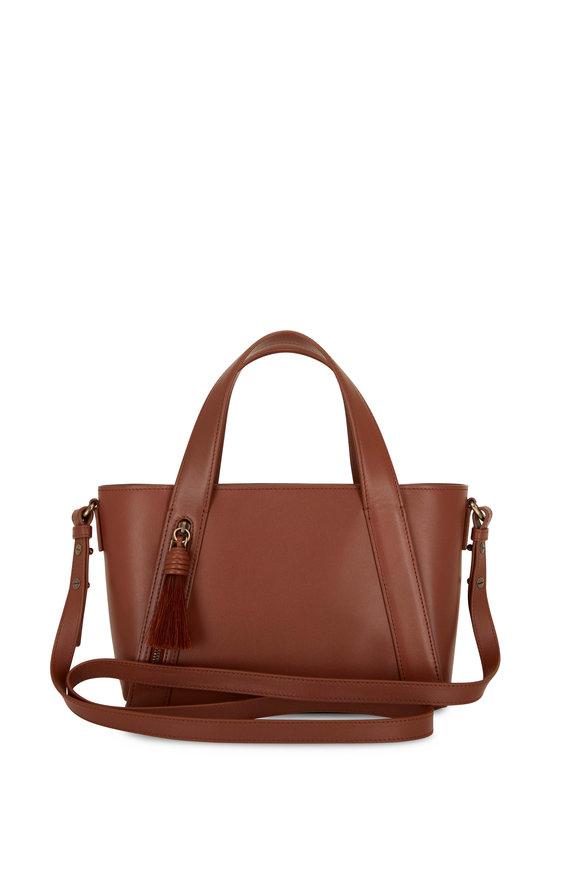 Akris Little Alexa Caramel Leather Crossbody Bag