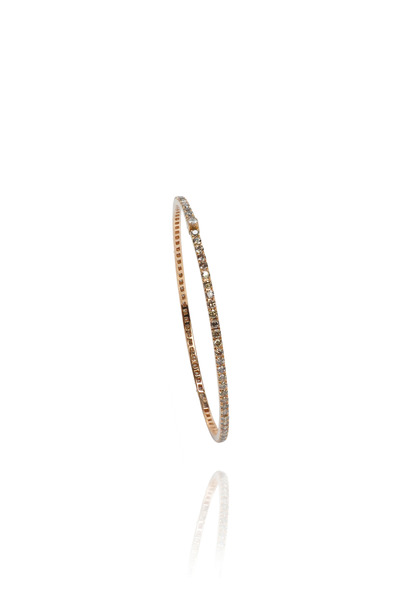 Nam Cho - Pink Gold Thin Oval Champange Diamond Bangle