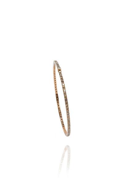 Nam Cho - Pink Gold Thin Oval Champange Diamond Bangle