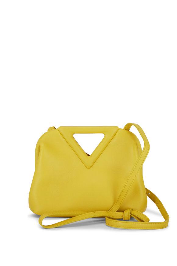Bottega Veneta The Point Triangle Yellow Leather Small Bag