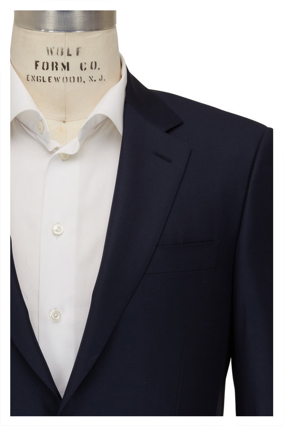 Canali Basic Navy Wool Suit