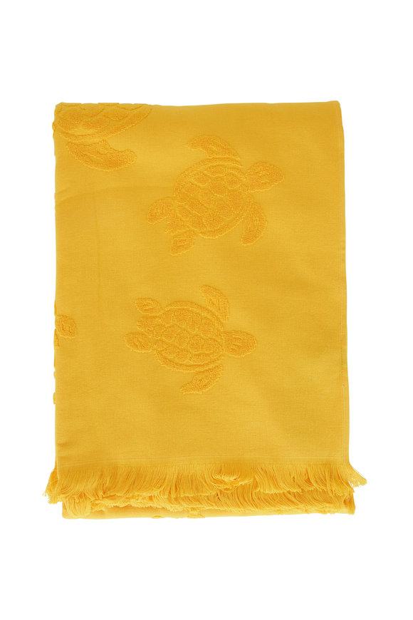 Vilebrequin Santah Yellow Jacquard Beach Towel