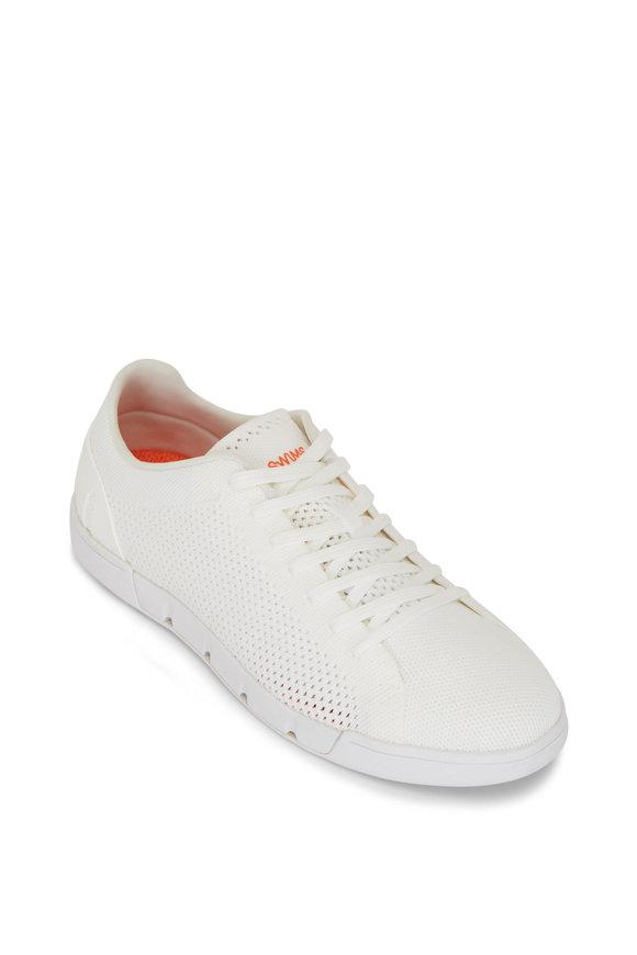 Swims Breeze Tennis White Knit Sneaker
