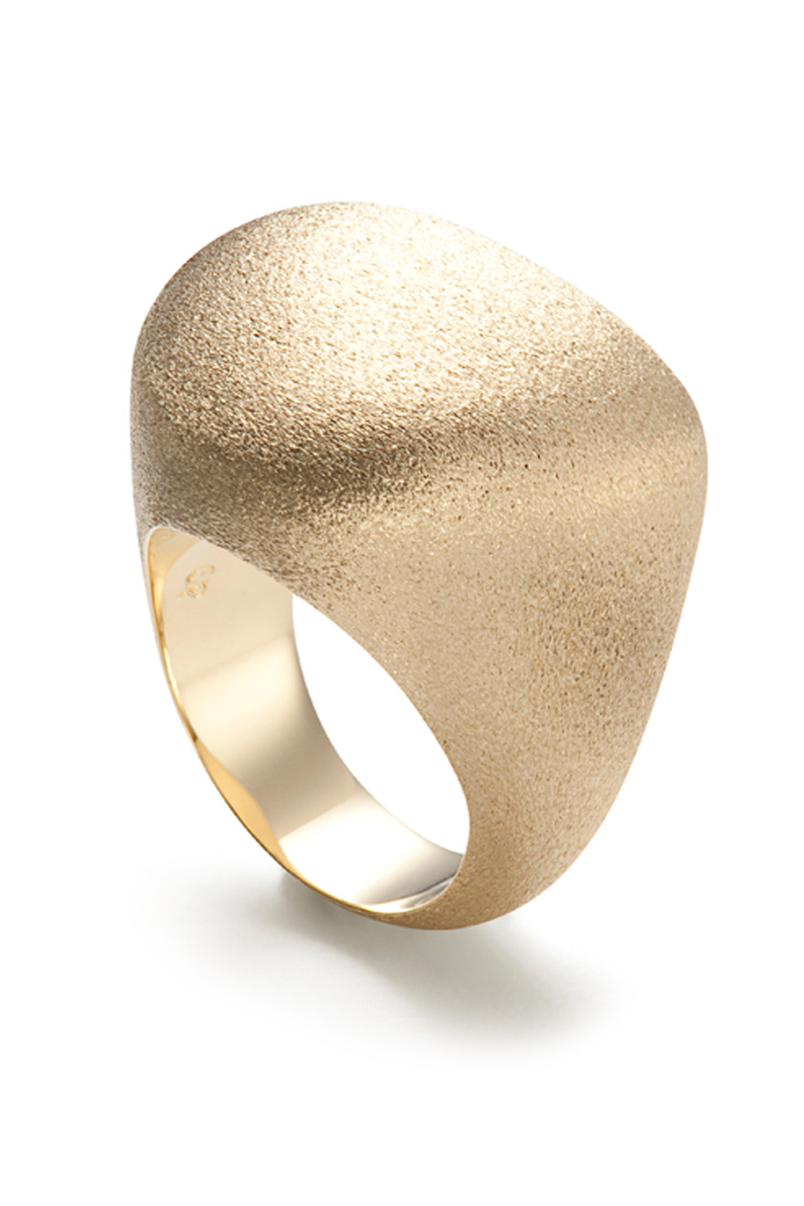 Textured Golden Stones Ring