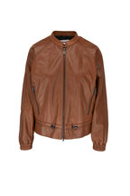 Bogner - Eliza Mocha Nappa Leather Jacket
