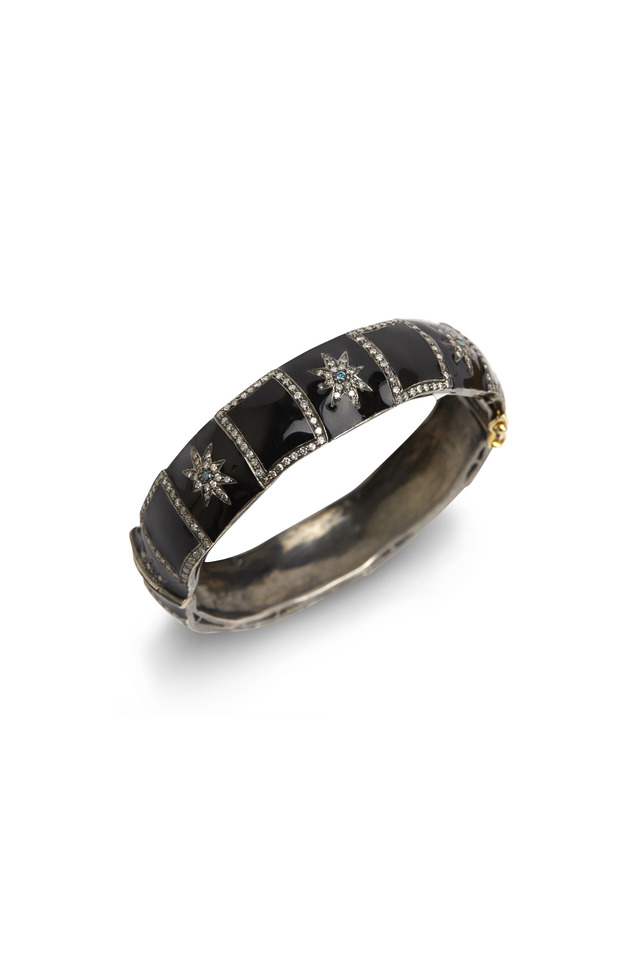 Enamel Diamond Star Bracelet