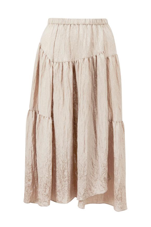 Vince Smokey Quartz Tiered Asymmetric Skirt