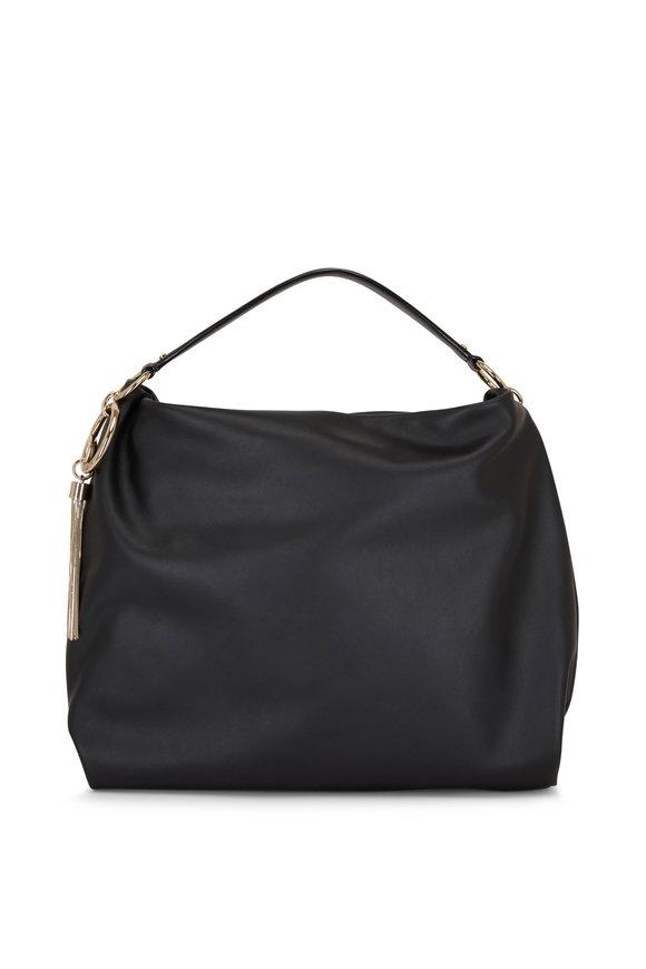 Jimmy Choo Callie Black Calf Leather Hobo Bag